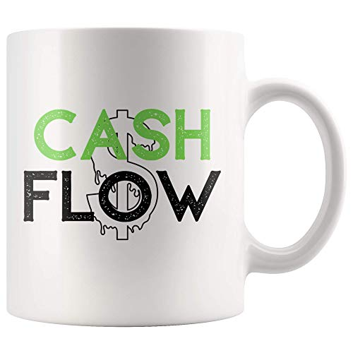 r/Design Cash Flow Mug - Money Mug - White Ceramic 11 oz ()