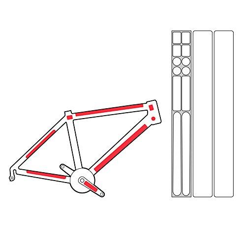 Zefal Skin Armor Decal Frame Guard, Clear, Large (Bike Decals Frame)