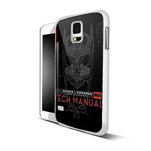 Batman V Superman Dawn Of Justice Tech Manual for Samsung S5 White case