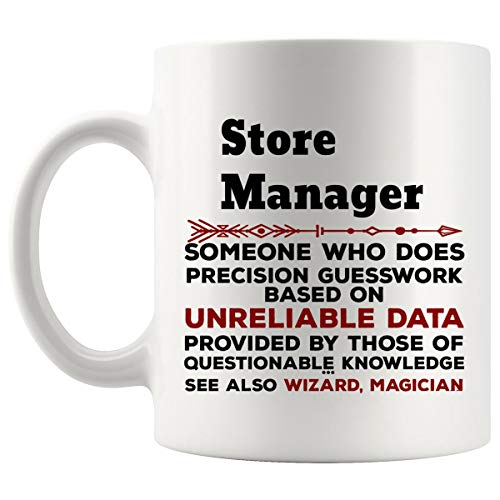 Funny Store Manager Mug Gift - 11Oz Coffee Cup - Best Gifts for Men Women T-Shirt Cups Mugs from WingToday