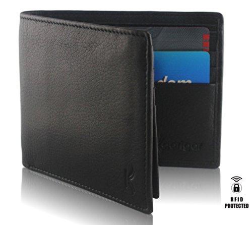Kaarigar Men's Genuine Leather Wallet, RFID Blocking Wallet for Men, Slim and Classic Design Bifold Luxury Handmade Wallet, Secure Credit Card From Id…