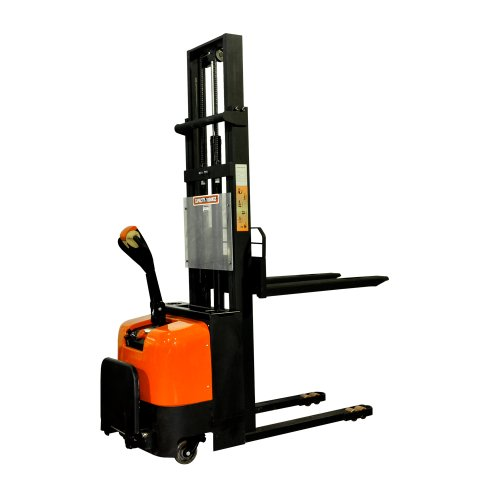 Bolton Tools New Electric Powered Stacker Forklift with Foot Rest - 2200 LB of Capacity - 118.1