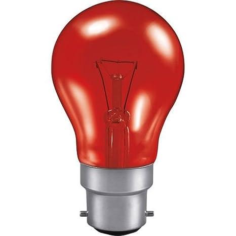 10x 40W /& 60W Red Fireglow GLS Light Bulbs Bayonet BC B22 for Flame Effects 240v
