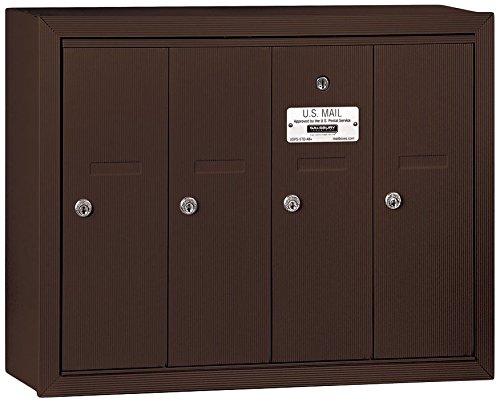 4 Door Aluminum Mailbox - 7