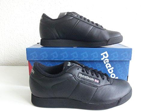 Reebok PRINCESS Leather–Zapatillas para mujer en 2colores Negro - negro