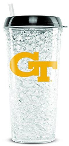 - NCAA Georgia Tech Yellow Jackets 16oz Crystal Freezer Tumbler with Lid and Straw