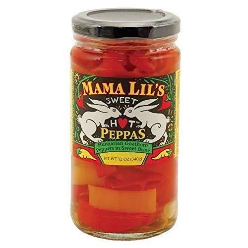 Mama Lils Hungarian Goathorn Peppers in Sweet Brine