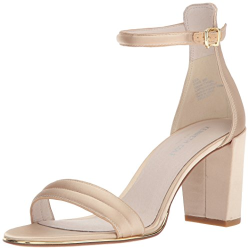 - Kenneth Cole New York Women's Lex Block Heeled 2 Piece Sandal with Buckle Closure Champagne, 6.5 Medium US