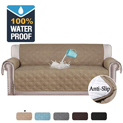 H.VERSAILTEX 100% Waterproof Sofa Cover for Pets Couch Covers for Living Room Sofa Covers for 3 Cushion Couch Covers for Dogs, Seat Width Up to 78