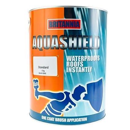 Aquashield by Britannia Paints Acrylic Waterproofing Roof Coating/Roof Paint/Emergency Leak Repair (5Kg, Clear)
