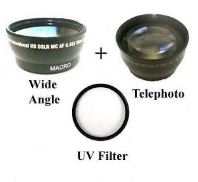 ワイドレンズ+ Tele + UVキットfor JVC gz-hd7ek、JVC gz-hm1、JVC gz-hm400、JVC gz-mg555、JVC gz-mg555ek   B01DLNK30E