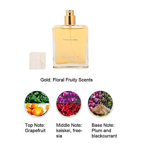 Damparfym, Naturlig blomma Fruktdoft Lady Parfym med presentf?rpackning 3 stycken Uppgradering Glimmerversion Grapefrukt Cedertr? Citron Rose Hallon
