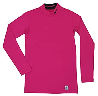 Nike Mens Pro Combat Hyperwarm Fitted Mock Shirt 2.0 Pink (X-Large)