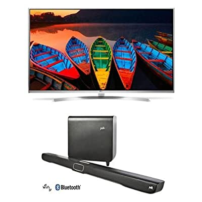 "LG Electronics 60UH8500 60"" Class 4K Super UHD Smart LED TV - Bundle With Polk Audio Omni SB1 Plus Premium Home Theater Sound Bar"
