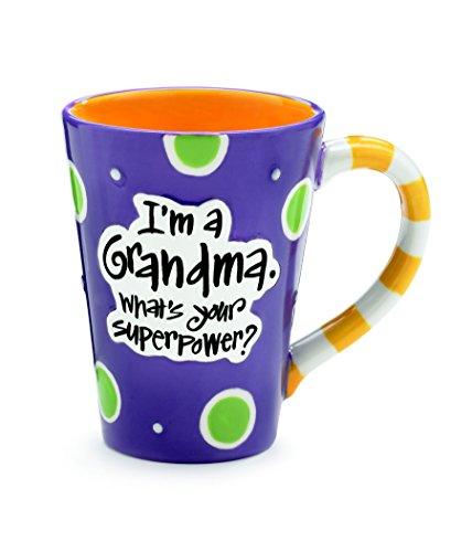 Mug Grandma - Burton 9716068 I'm A Grandma, What's Your Super Power, Coffee Mug, 12 oz. Purple