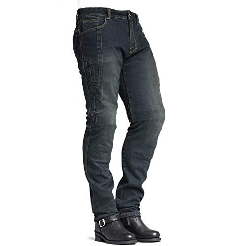 MAXLER Jean Biker Jeans for Men Motorcycle Motorbike Riding Jeans 1617 Grey 32