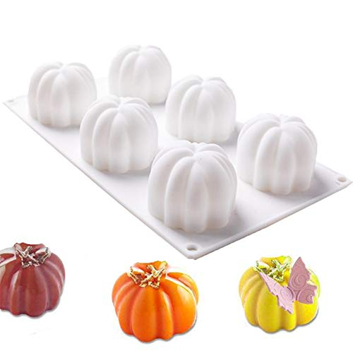 Mousse De Chocolate Halloween (Silicone Mousse Molds, ANUNU Ball Cube Cake Mold 3D Cube Mousse Mold Multilateral Ball Mousse Cake Mold Use for Chocolate Brownie Jelly-6 Holes)