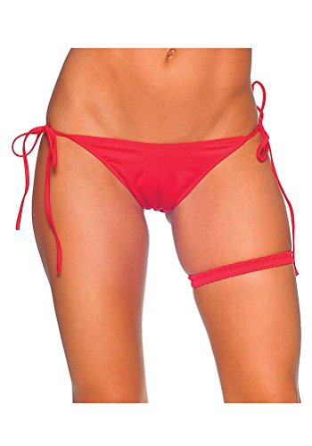 BodyZone Women's Tie Side Extreme Scrunch Bottom, Red, One - Side Bottom Tie 70's