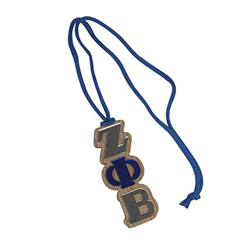 Shell Medallion Necklace (Zeta Phi Beta #MED-O Oak Wood Backed Mirror Letter Greek Medallion 16 Inch Long Tiki Necklace)