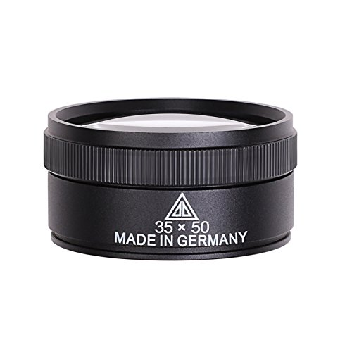 Portable Magnifying Glass 35X Jewelers Loupe Optical Lens Handheld Magnifier Desktop Magnifier Dome Paperweight Magnifier with Detachable Handle for Reading Maps Hobbies Repairing Precision Work