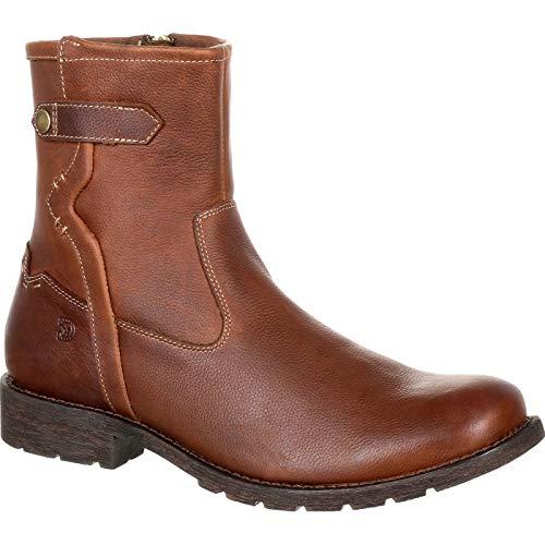 Durango Men's Drifter Side-Zip Boots, Brown, Full-Grain Leather, Fiberglass, Mesh, Rubber, Foam, 8 W
