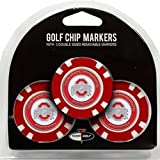 Set of 3 Ohio State Buckeyes Poker Chips with removable Golf Ball Markers