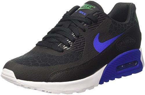 Nike Wmns Air Max 90 Ultra 2.0, Scarpe Running Donna Nero (Black/Paramount Blue/White/Stadium Green)