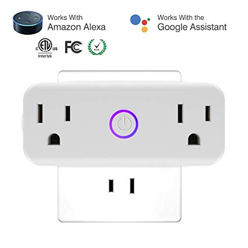 Wifi Smart Plug Home Accessories - Socket Compatible With Amazon Alexa and Google Home Assistant With Scheduling Timer, No Hub Required