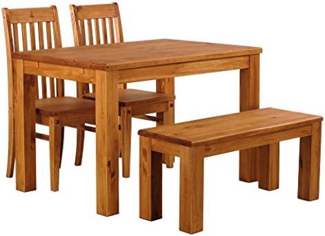 B.R.A.S.I.L.-Möbel TableChamp Juego de Mesa de Comedor para Cuatro ...