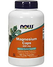 Now Magnesium 400 mg, 180 Veg Capsules