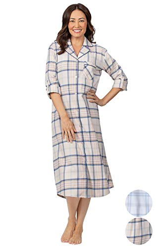 Addison Meadow Women's Flannel Nightgown - Womens Nightgowns, Pink, 1X, 16-18