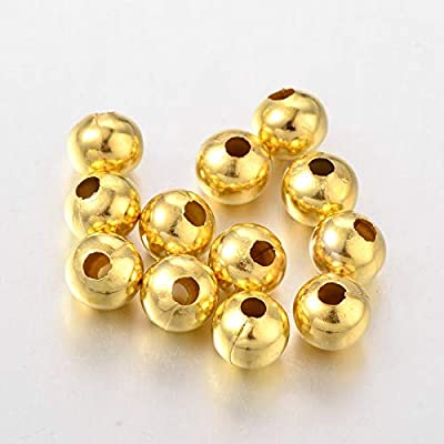 Craftdady 300pcs 3mm Golden Metal Round Spacer Beads Tiny Small Rondelle Loose Beads for Jewelry Making Hole:1mm