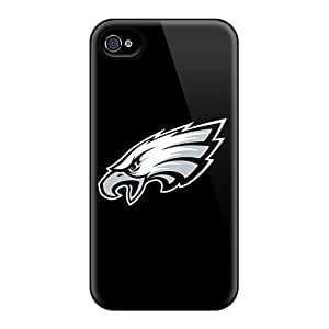 Tpu Case Cover For Iphone 4/4s Strong Protect Case - Philadelphia Eagles 5 Design