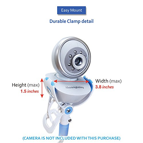 20% Off ! $15.99 Only! EasyMount Universal Baby Monitor Mount, Infant Video Monitor Holder and Shelf, Fit for Most Baby Cameras, Monitors, Flexible Camera Stand and Bendy Arm for Best View of Baby by MoonyBaby (Image #5)