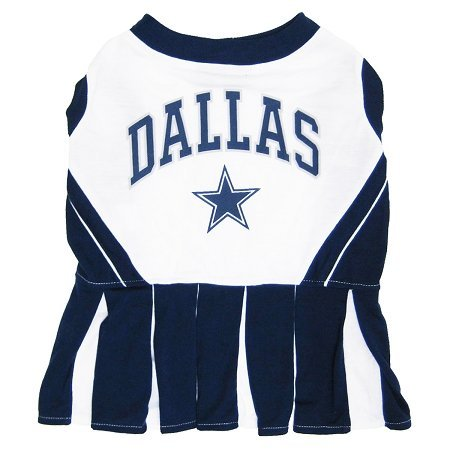 Dallas Cowboys NFL Dog Cheerleader Outfit - (Dallas Cowboy Cheerleader Outfits)