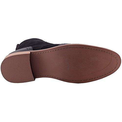 Unze Mens 'Bourne' Leather Boots Smart Formal Brogue Combat Lace Ankle Boots Shoes UK Size 6-12 Black 3dlBG4PX