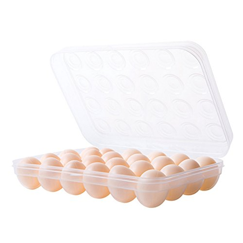 Egg Tray Woopower Single Layer Refrigerator Food Eggs Airtight Storage House Kitchen Organize Tools (24 grid)