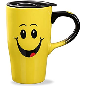 18 x CHILDREN KIDS PLASTIC SMILEY FACE MUGS CUPS WITH HANDLE FUN TRAVEL HOME