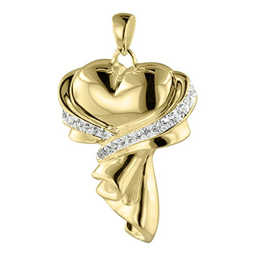 Perfect Memorials Gift of Love 14k Gold Vermeil Cremation Jewelry