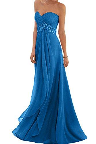 trapecio mujer Topkleider para oscuro Vestido azul AHgwC5q
