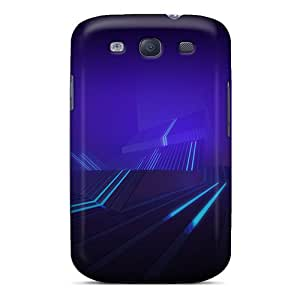 Premium Tron Honeycomb Back Cover Snap On Case For Galaxy S3