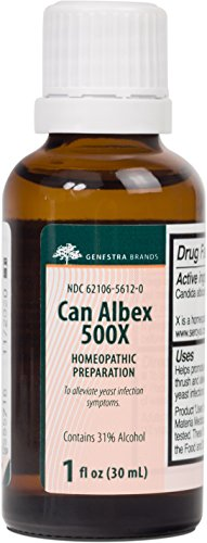 Herbal Homeopathic Remedies (Genestra Brands - Can Albex 500X - Candida Albicans Homeopathic Remedy in Liquid Form - 1 fl oz (30 ml))