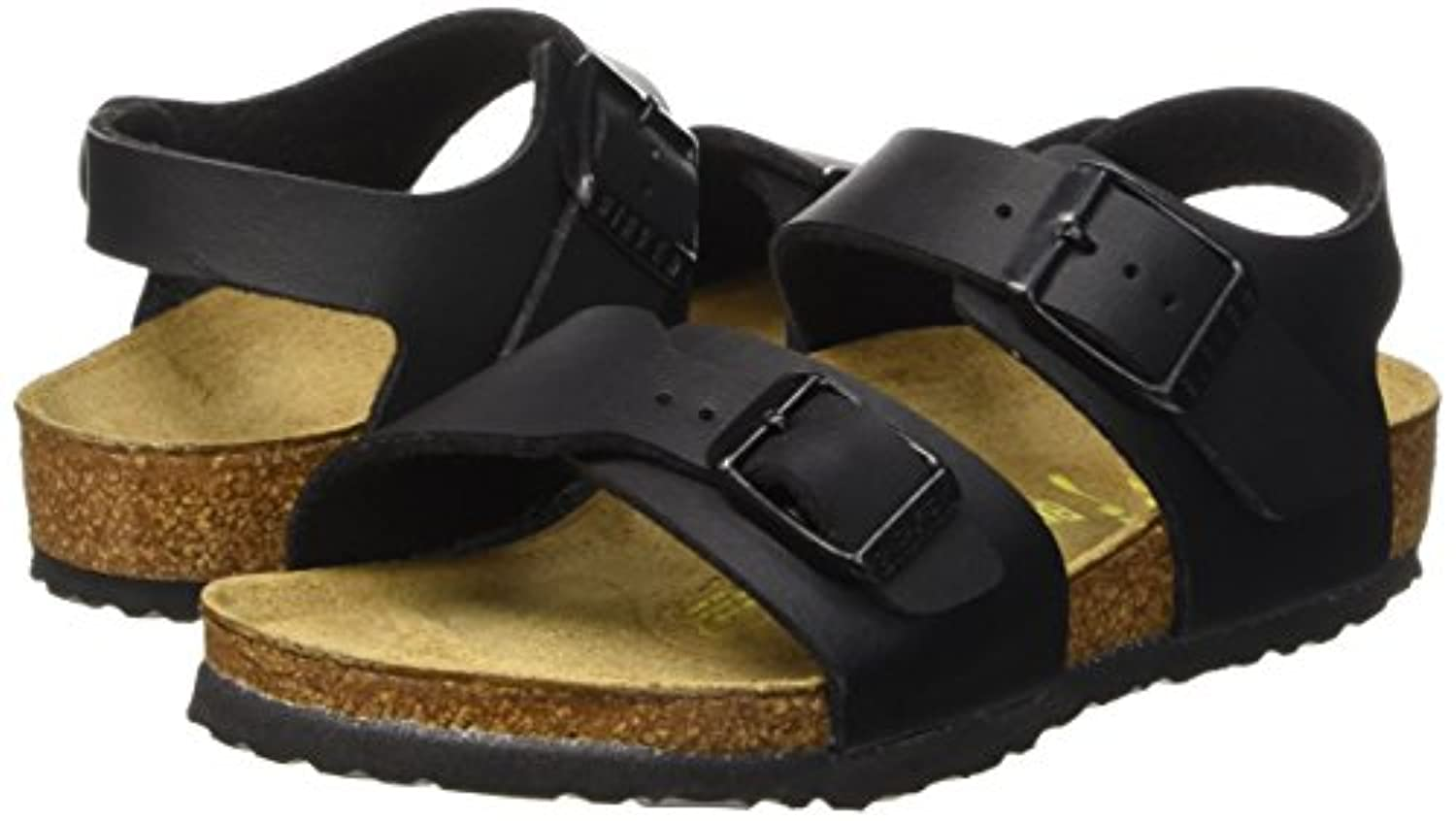 Birkenstock Boys' New York Open Toe Sandals Black Size: 3