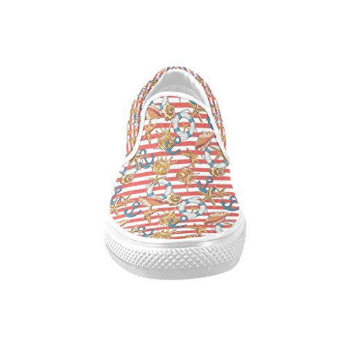Summer Theme Print Casual Slip-on Canvas Zapatos Para Mujer 3