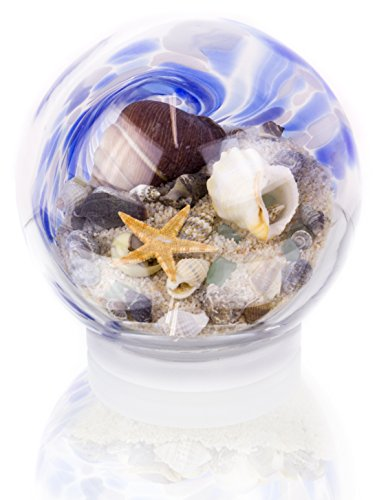 Handcrafted Blue Water Sandglobe, Small