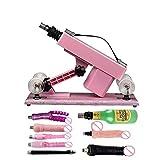Automatic Sex Machine Retractable Machine Women Masturbation Pumping Gun Vibrator Gun Sex Products Free 8PCS attachments - Pink