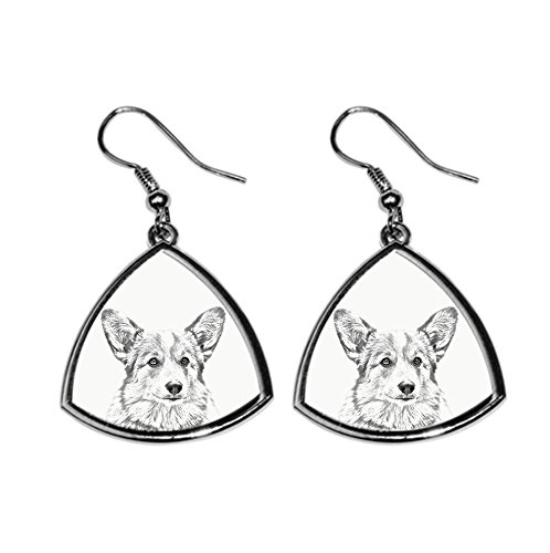 (Welsh Corgi, collection of earrings with images of purebred dogs, unique)