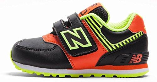 New Balance 574 Scarpe Sneaker Bambino Nero Arancione KG574OHI-NERO-ARANCIO