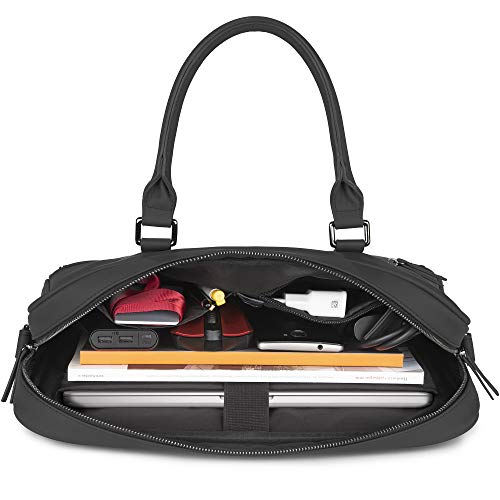 The Friendly Swede 13 inch Slim Laptop Bag for Women and Men - Shoulder Strap, Minimalist Notebook Executive Computer Case Business Briefcase, Vegan PU - VRETA by The Friendly Swede (Image #4)