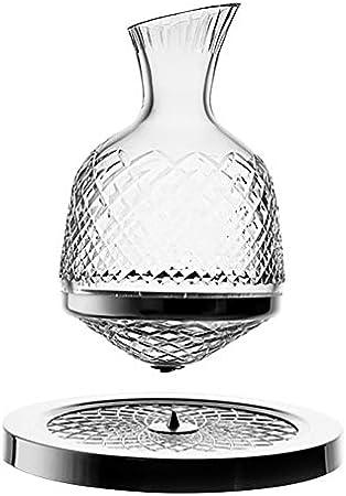 AURALLL Decantador de Vino Whisky Decanter Globe Top Spiral Decanter Bottle Free Glass Botella de Vino para Whisky, Bourbon, Scotch & Licor